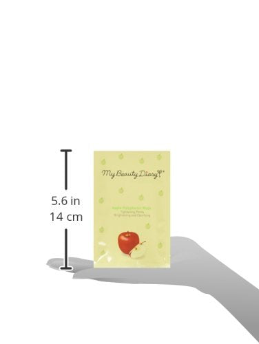 My Beauty Diary Facial Mask, Apple Polyphenol 2015, 10 Count