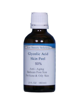 (2 Oz / 60 Ml) Glycolic Acid 50% Buffered -Skin Chemical Peel - - Alpha Hydroxy (Aha) For Acne, Oily Skin, Wrinkles, Blackheads, Large Pores & More (From Skin Beauty Solutions)