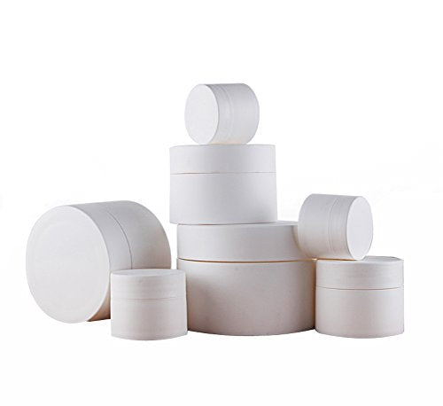 286a2c376c8d 6Pcs 3Ml/5Ml/10Ml/15Ml/30Ml/50Ml/80Ml Empty White Portable Refillable  Plastic Frosting Finish Cosmetic Makeup Face Cream Jar Sample Container  Bottle ...