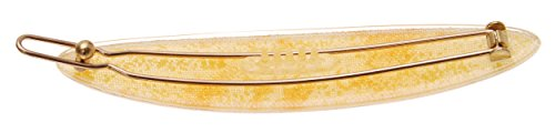 France Luxe Oblong Tige Boule Barrette - Cocktail Yellow