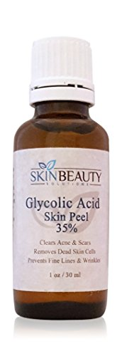 (1 Oz / 30 Ml) Glycolic Acid 35% Skin Chemical Peel - Unbuffered - Alpha Hydroxy (Aha) For Acne, Oily Skin, Wrinkles, Blackheads, Large Pores & More (From Skin Beauty Solutions)