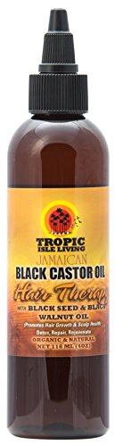 Tropic Isle Living- Jamaican Black Castor Oil Hair Therapy With Black Seed & Black Walnut Oil-4Oz