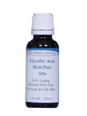 (1 Oz / 30 Ml) Glycolic Acid 35% Buffered Skin Chemical Peel - Alpha Hydroxy (Aha) For Acne, Oily Skin, Wrinkles, Blackheads, Large Pores & More (From Skin Beauty Solutions)