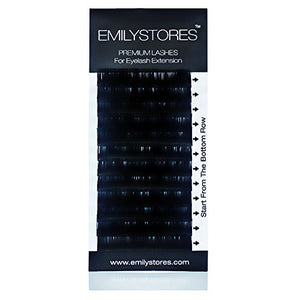 Emilystores Eyelash Extensions 0.25Mm Thickness J Curl Length 15Mm Silk Mink Fake Eye Lashes In One Tray Single Size