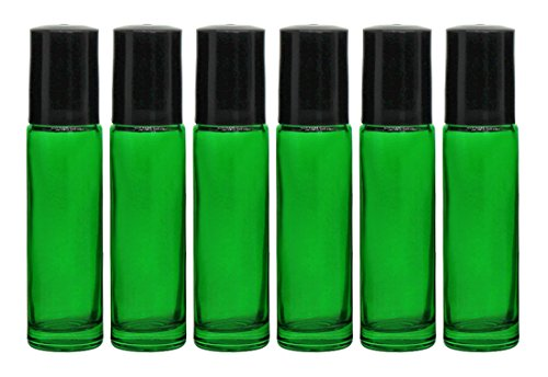 Roll-On Glass Bottles,6 Pc 10Ml (1/3Oz) And 1Ml Dropper Included, Empty  Aromatherapy Essential Oils, Perfume Bottles, Refillable Bottles Slim With