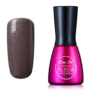 Gel Polish, Soak Off Uv Led Gel Nail Polish Lacquer Varnish 7Ml / 0.27 Fl.Oz - Shimmer Taupe (1880)