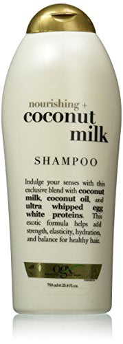 Ogx Nourishing Shampoo, Coconut Milk, Salon Size, 25.4 Ounce