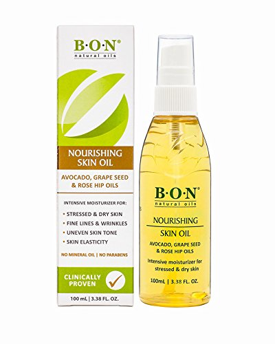 B.O.N Skincare Nourishing Skin Oil All Natural Toning Blend To Help Reduce Stretch Marks During Pregnancy Spray Bottle, 3.38 Fl. Oz.