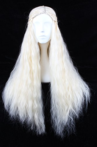 Angelaicos Fluffy Cosplay Wigs For Game Of Thrones Daenerys Targaryen Long Blonde
