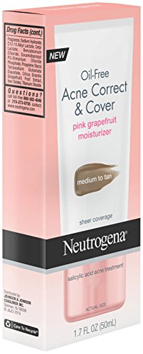 Oil-Free Acne Correct & Cover Pink Grapefruit Moisturizer by Neutrogena #21