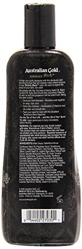 Australian Gold Sinfully Black 15X Deep Dark Bronzing Tanning Lotion, 8.5 Ounce