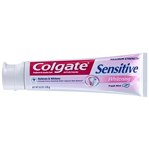 Colgate Sensitive Maximum Strength Whitening Toothpaste(Gel) - 6 Ounce