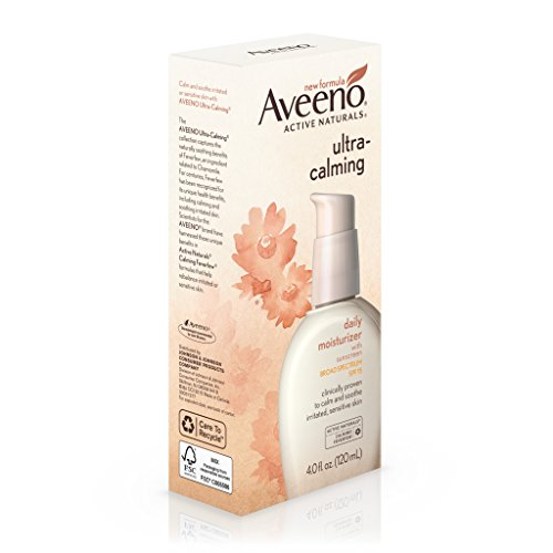 Aveeno Ultra-Calming Daily Moisturizer For Sensitive Skin With Broad Spectrum Spf 15, 4 Fl. Oz.