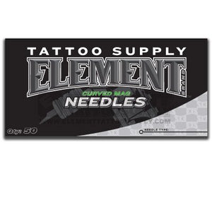 (13 Curved Mag) Element Curved Magnum Mag Shader Tattoo Needles Available In Many Different Sizes - 5, 7, 9, 11, 13, 15