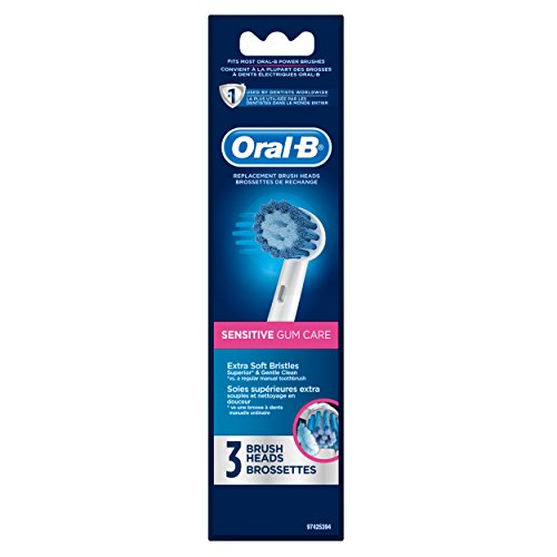 Oral-B Sensitive Gum Care Electric Toothbrush Replacement Brush Heads Refill, 3 Count