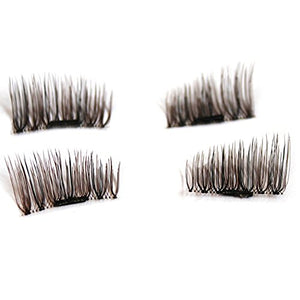 Forubeauty Magnetic Eyelashes, Natural Look Reusable Magnetic False Eyelashes Mink 1 Pair 4Pcs Style Random (Brown)