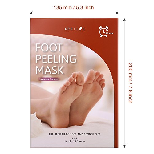 Foot Peel Mask, Antifungal Exfoliating Foot Mask For Dry And Dead Skin, Rebirth Of Soft Baby Foot In A Week, Must-Have Foot Callus Remover, Available For Women & Men, Lavender Scented, 1 Pair