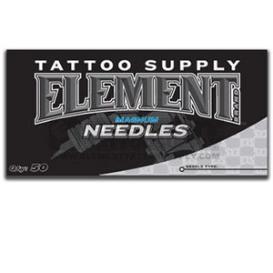 (13 Mag) Element Flat Magnum Mag Shader Tattoo Needles Available In Many Different Sizes - 5, 7, 9, 11, 13, 15, 17