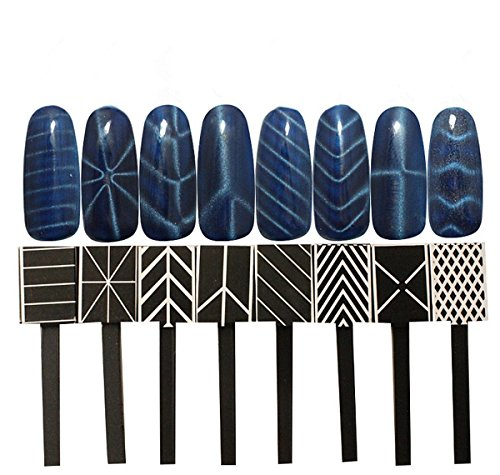 Meilinds Nail Art Magnet Plate Wand Board Tool For Diy Magic 3D Magnetic  Polish Cats Eyes Effect 11 Pcs/Set