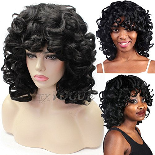 Exvogue Fluffy Kinky Short Curly Wig Synthetic