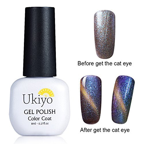 Color-Changing Gel Nail Polish 3D Magnetic Charming Cat Eye Effect ...