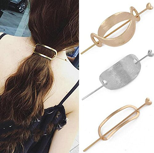 Joyci 3Pcs Fashion Women'S Hair Pin Hair Fork Slide Tuck Hair Clip Accessory (A)