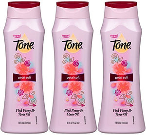 Tone Petal Soft Body Wash, Pink Peony And Rose Oil, 18 Oz