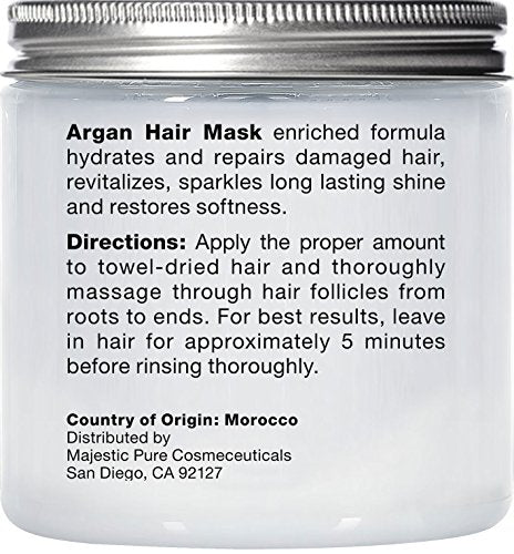 Majestic Pure Argan Oil Hair Mask Natural Hair Care Product