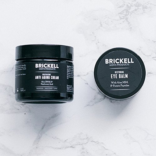 Brickell Men'S Ultimate Anti-Aging Routine - Anti-Wrinkle Night Face Cream  And Eye Cream To Reduce Puffiness, Wrinkles, Dark Circles, & Under Eye Bags