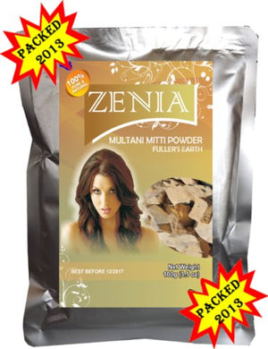 100G 2013 Zenia Multani Mitti - Fullers Earth Clay Skin Polishing Natural Facial Mask