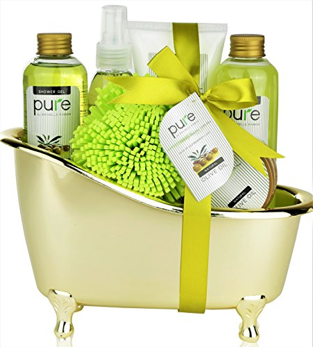 Pure Deluxe Spa Gift Basket- Hydrating Olive Oil Skin Therapy Kit Luxury Gift Basket -  sc 1 st  zippybeauty.com & Pure Deluxe Spa Gift Basket- Hydrating Olive Oil Skin Therapy Kit ...