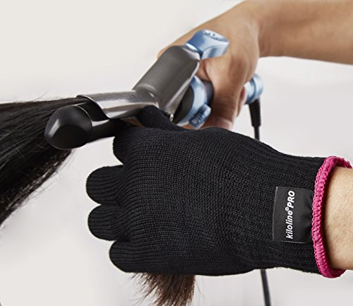 Kiloline Professional Heat Resistant Glove For Hair Styling Heat Blocking For Curling, Flat Iron And Curling Wand Suitable For Left And Right Hands