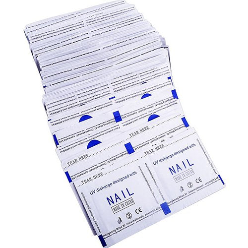 Polytree 50 Pcs Gel Polish Remover Foil Wraps Nail Art Cleaner With Acetone