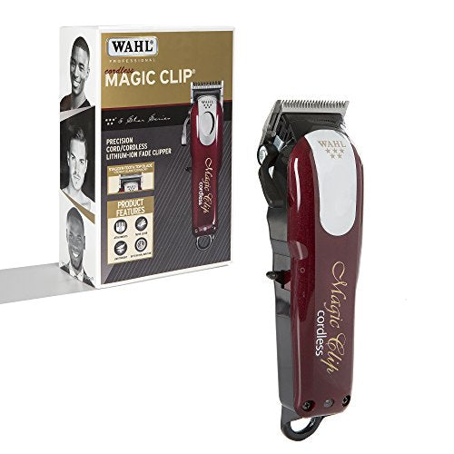 Wahl Professional 5-Star Cord/Cordless Magic Clip #8148  Great For Barbers And Stylists  Precision Cordless Fade Clipper Loaded With Features  90+ Minute Run Time