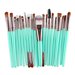 Wuyimc 20 Pieces Makeup Brush Set Professional Face Eye Shadow Eyeliner Foundation Blush Lip Makeup Brushes Powder Liquid Cream Cosmetics Blending Brush Tool (Rose Gold)