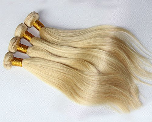 #613 Blonde Human Hair Bundles Straight Blonde Hair Extensions 100% Remy Hair Weaves 1 Bundle 20 Inch