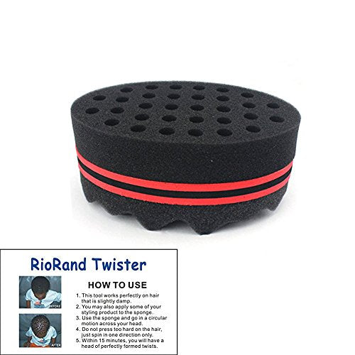 Riorand Magic Twist Hair Brush Sponge Two In One(8Mm Hole Diameter)