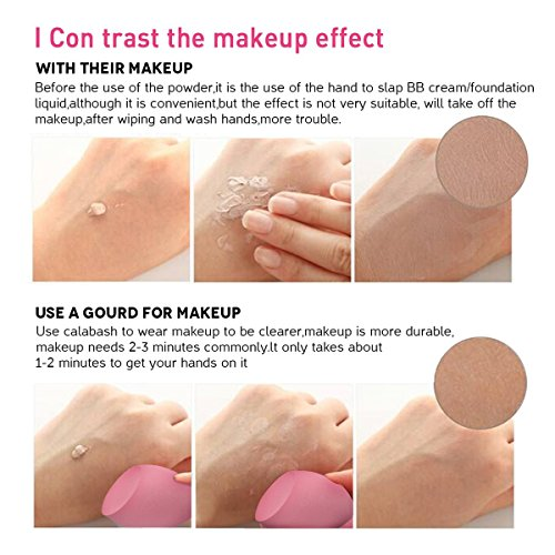 Makeup Sponges, Esarora 6 Pieces (3+3) Foundation Blending Sponge Flawless Makeup Blender For Liquid Creams And Powders - Multi Color And Saving Money Makeup Sponges