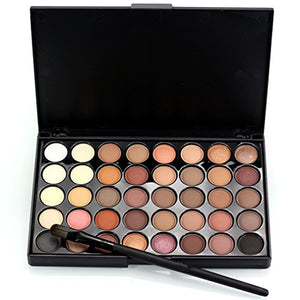 Pure Vie Professional 40 Colors Eyeshadow Palette Makeup Contouring Kit #1 For Salon And Daily Use