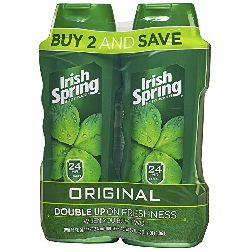 Irish Spring Body Wash For Men, Original- 32 Ounce (2 Count)