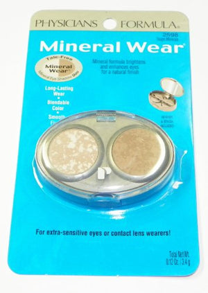Physicians Formula Mineral Wear Eyeshadow Duo Taupe Minerals #2598 0.12 Oz Sh19E
