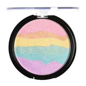 Baomabao 6 Colors Eyeshadow Palette Blush Rainbow Highlight Face Shimmer Color (A)