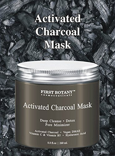 The Best Charcoal Creme Mask 8.8 Fl. Oz.- Best For Facial Treatment, Minimizes Pores & Reduces Wrinkles, Acne Scars, Blackheads & Cellulite - Great As Face Mask & Body Cleanser