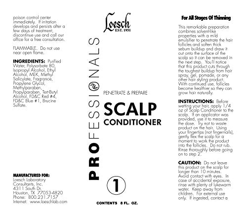 8 Oz Loesch Professional Penetrate & Prepare Scalp Conditioner, To Draw  Sebum Buildup Onto Scalp Surface To Be Removed Later, And Make Hair  Follicles