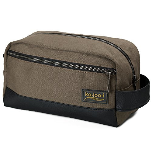 7aab6ae760 Toiletry Bag For Men  Canvas Dopp Kit For Travel
