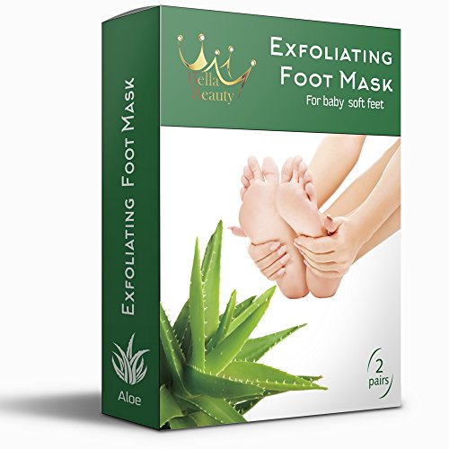 Exfoliating Foot Peel Mask For Soft, Smooth Feet - 2 Pairs Baby Feet Peel Mask, Peeling Away Calluses And Dead Skin Cells. Baby Your Feet In 1-2 Weeks. All- Natural Aloe Extract.