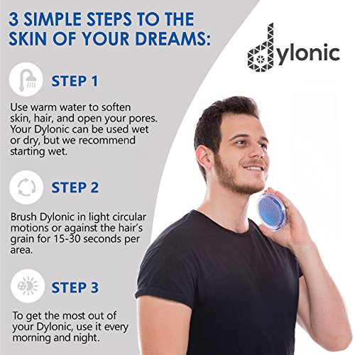 Exfoliating Brush To Treat And Prevent Razor Bumps And Ingrown Hairs - Eliminate Shaving Irritation For Face, Armpit, Legs, Neck, Bikini Line - Silky Smooth Skin Solution For Men And Women By Dylonic