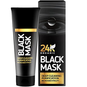 Black Mask Purifying Peel Off Mask  Blackhead Remover By 24K  For Premium Facial Cleansing Detox Exfoliator
