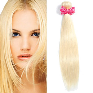 #613 Blonde Straight Virgin Hair 1 Bundle Honey Blonde Brazilian Straight Hair 100% Human Hair Extensions (16)