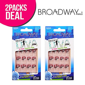2-Pack! Broadway Fashion Diva 24 Nails In 12 Sizes (Bfd56819)
